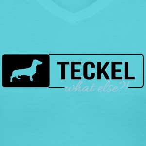 Teckel what else - Women's V-Neck T-Shirt