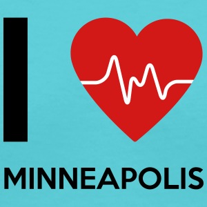 I Love Minneapolis - Women's V-Neck T-Shirt