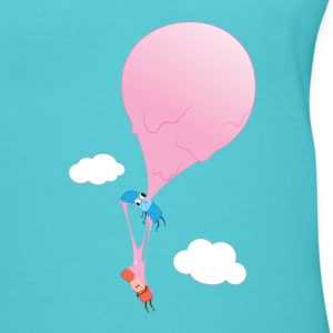 Ouch Bubble Gum Balloon - Women's V-Neck T-Shirt