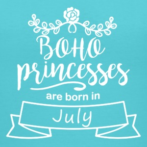 Boho_Princesses_are_born_in_July - Women's V-Neck T-Shirt