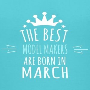 Best MODEL_MAKERS are born in march - Women's V-Neck T-Shirt
