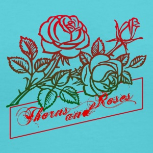 Thorns and Roses - Women's V-Neck T-Shirt