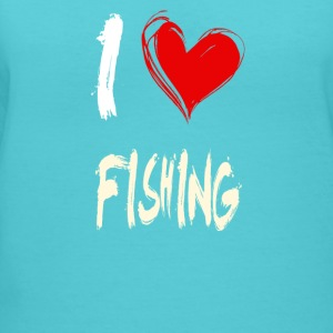 I love FISHING - Women's V-Neck T-Shirt