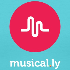 musical.ly - Women's V-Neck T-Shirt