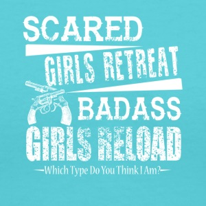 Gun Owner's Shirt Badass Girls Reload Shirt - Women's V-Neck T-Shirt