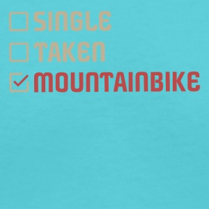 Single Taken Mountainbike - Women's V-Neck T-Shirt
