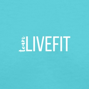 Team_LiveFit_Logo_WHITE - Women's V-Neck T-Shirt