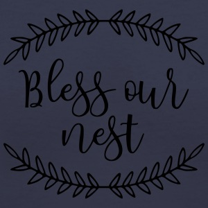 Bless Our Nest Farmhouse Decor Pillow Case - Women's V-Neck T-Shirt