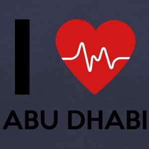 I Love Abu Dhabi - Women's V-Neck T-Shirt