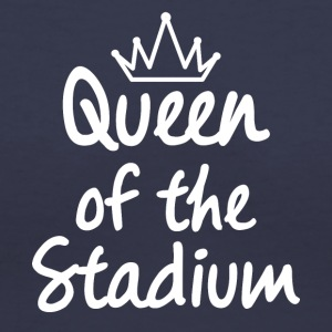 Queen of the Stadium - Women's V-Neck T-Shirt