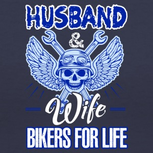Husband And Wife Bikers For Life Shirt - Women's V-Neck T-Shirt