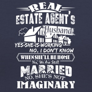 Real Estate Agent's Husband Shirt - Women's V-Neck T-Shirt