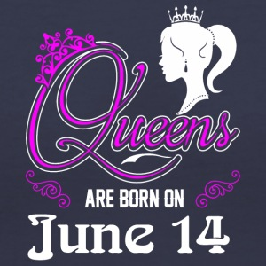 Queens are born on June 14 - Women's V-Neck T-Shirt