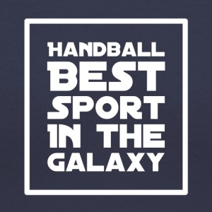 Handball Best sport in the galaxy - Women's V-Neck T-Shirt
