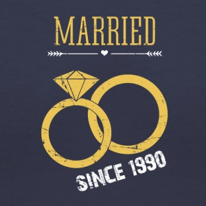 Wedding Anniversary married since 1990 - Women's V-Neck T-Shirt