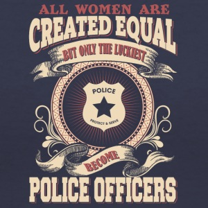 The Luckiest Women Become Police Officers - Women's V-Neck T-Shirt