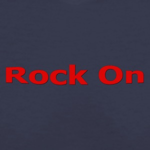 Rock On RED - Women's V-Neck T-Shirt