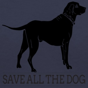 save all the dog - Women's V-Neck T-Shirt