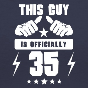 This Guy Is Officially 35 - Women's V-Neck T-Shirt