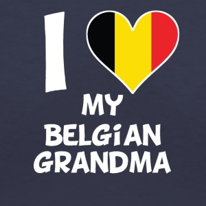 I Heart My Belgian Grandma - Women's V-Neck T-Shirt