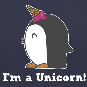 I'm a Unicorn Penguin Shirt - Women's V-Neck T-Shirt