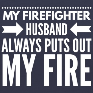 My firefighter husband - Women's V-Neck T-Shirt