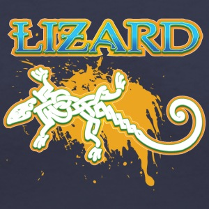 Lizard_with_text_15 - Women's V-Neck T-Shirt