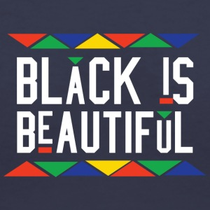 Black Is Beautiful (White Letters) - Women's V-Neck T-Shirt