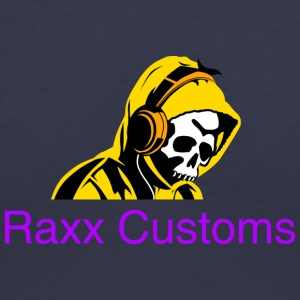 SKULL RAXX CUSTOMS logo yellow - Women's V-Neck T-Shirt