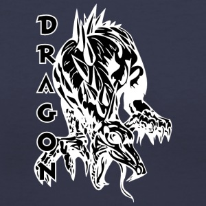 dragon_on_four_legs_black - Women's V-Neck T-Shirt