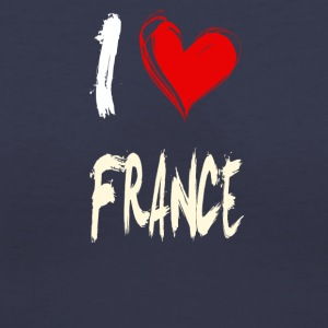 I love FRANCE - Women's V-Neck T-Shirt