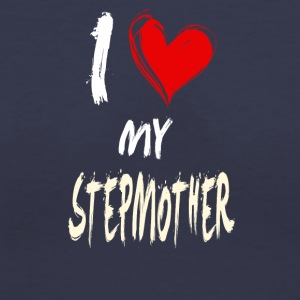 I love my STEPMOTHER - Women's V-Neck T-Shirt