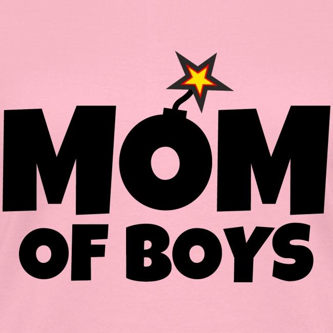 Mom Of Boys Mothers Day Womens V Neck T Shirt Winner T Shirts For Winners