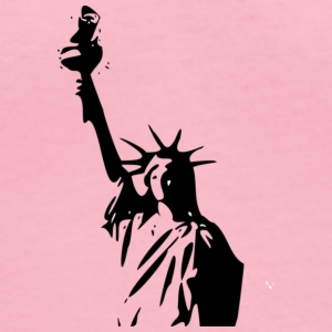 statue of liberty - Women's V-Neck T-Shirt