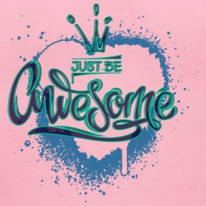 just-be-awesome-heart-crown - Women's V-Neck T-Shirt