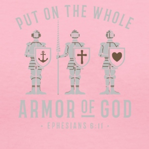 Put on the whole armor of god shirt - Women's V-Neck T-Shirt