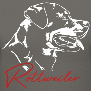 Rottweiler dog - Women's V-Neck T-Shirt