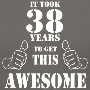 38th Birthday Get Awesome T Shirt Made in 1979 - Women's V-Neck T-Shirt