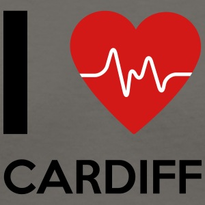 I Love Cardiff - Women's V-Neck T-Shirt