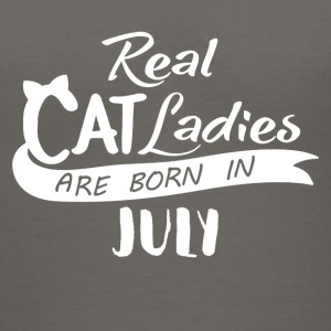 Cat ladies-born in July - Women's V-Neck T-Shirt