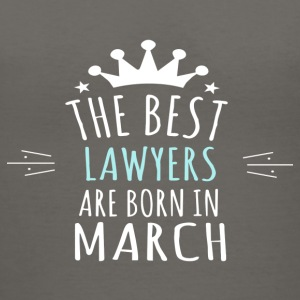 Best LAWYERS are born in march - Women's V-Neck T-Shirt