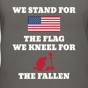 We Stand For The Flag We Kneel For The Fallen - Women's V-Neck T-Shirt