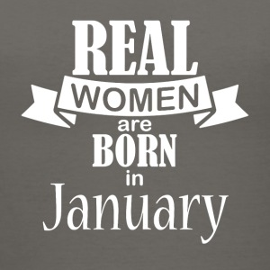 Real women born in January - Women's V-Neck T-Shirt