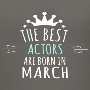 Best ACTORS are born in march - Women's V-Neck T-Shirt