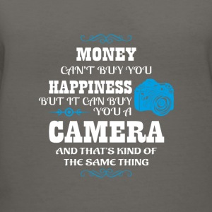 Camera sayings/quote T-shirt design - Women's V-Neck T-Shirt