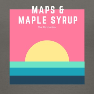 Maps and Maple Syrup Sunrise - Women's V-Neck T-Shirt