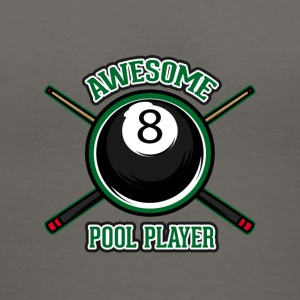 Awesome pool player - Women's V-Neck T-Shirt