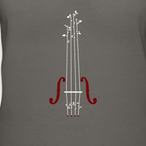 Violin Design - Women's V-Neck T-Shirt