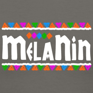 Melanin (White Letters) - Women's V-Neck T-Shirt