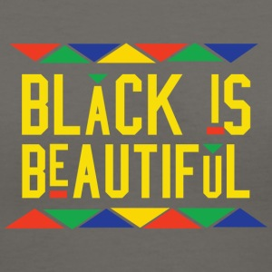 Black Is Beautiful (Yellow Letters) - Women's V-Neck T-Shirt